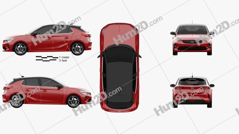 Opel Corsa 2020 Clipart Image