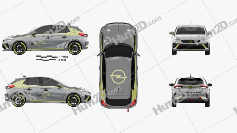 Opel Corsa e-Rally 2020 car clipart