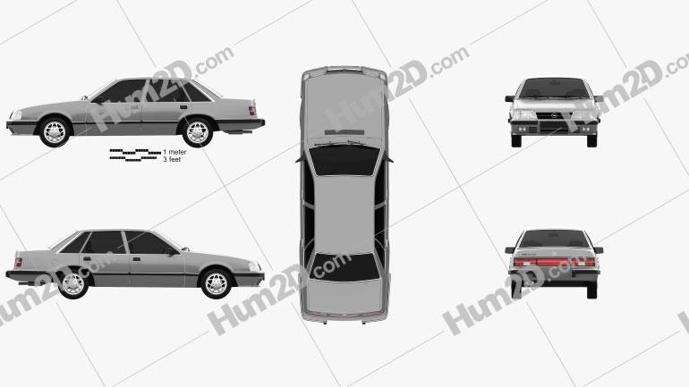 Opel Senator 1982 car clipart
