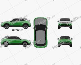 Opel Mokka-e 2021 car clipart
