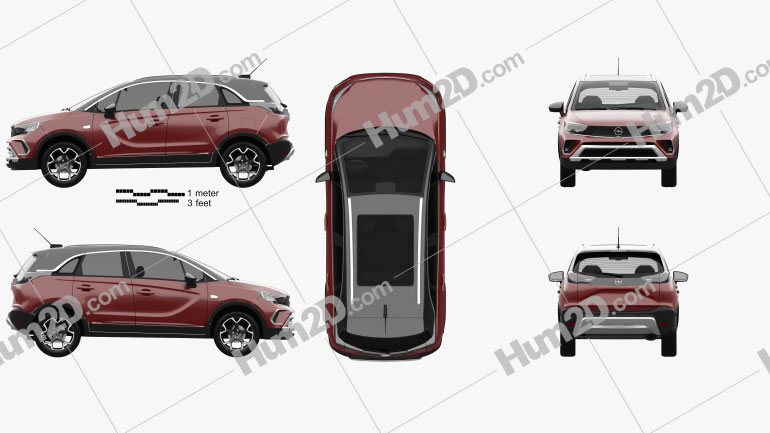 Opel Crossland 2021 car clipart