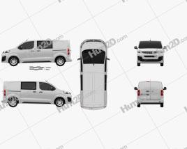 Opel Vivaro Crew Van L2 2019 clipart