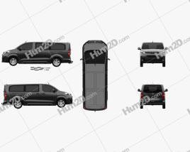 Opel Vivaro Crew Van L3 2019 clipart