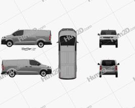Opel Vivaro Panel Van L3 2019 clipart