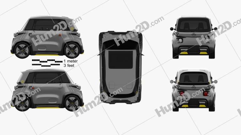 Opel Rocks-e 2022 car clipart
