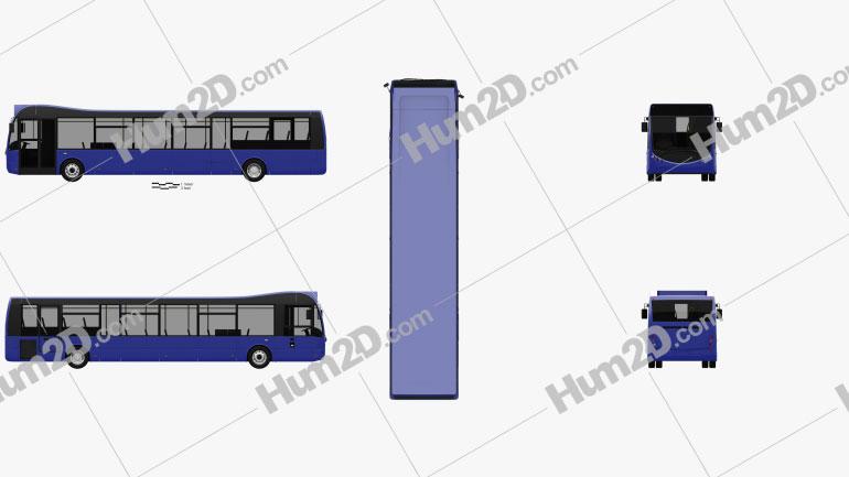 Optare MetroCity Bus 2012 clipart