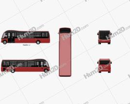 Optare Solo Bus 2007 clipart