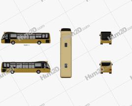 Optare Versa Bus 2011 clipart