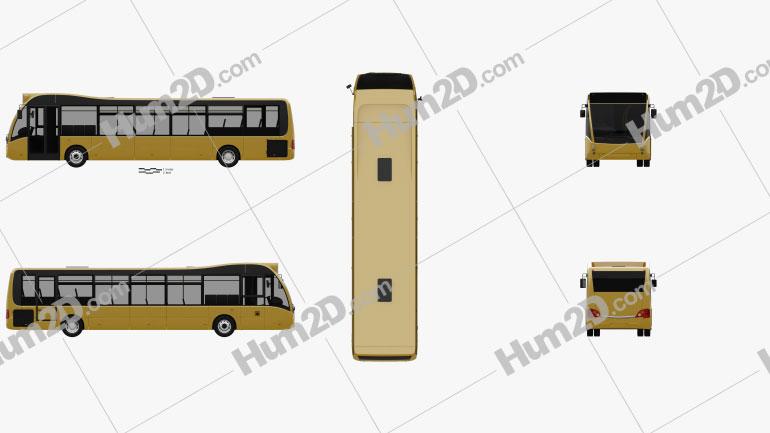 Optare Versa Bus 2011 Clipart Image