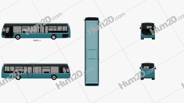 Optare Tempo Bus 2011 Clipart Image