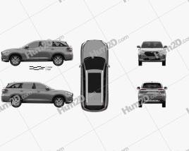 Oshan X7 2019 car clipart