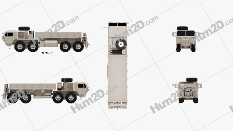 Oshkosh HEMTT M977A4 Cargo Truck 2011 clipart