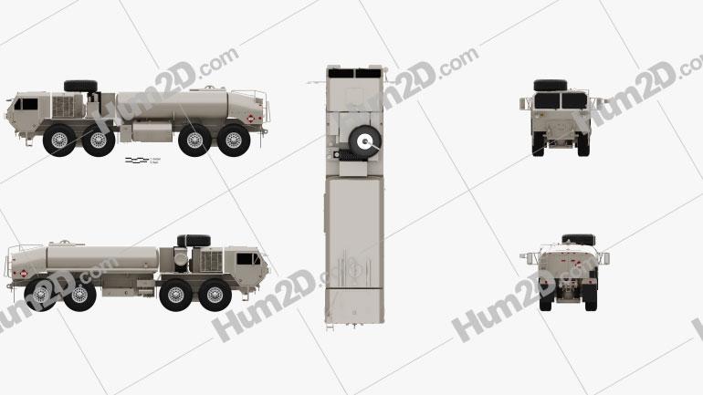 Oshkosh HEMTT M978A4 Fuel Servicing Truck 2011 clipart