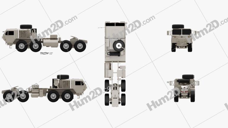 Oshkosh HEMTT M983A4 Patriot Tractor Truck 2011 clipart