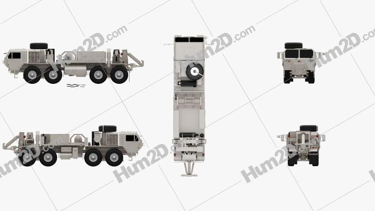 Oshkosh HEMTT M984A4 Wrecker Truck 2011 Clipart Image