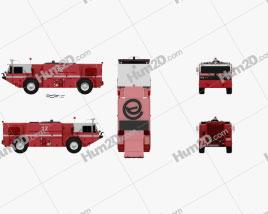 Oshkosh P19 Fire Truck 1984 clipart