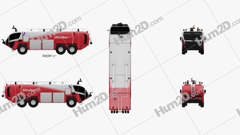 Oshkosh Striker 3000 Fire Truck 2010 clipart