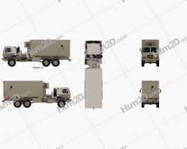 Oshkosh FMTV M1087 A1P2 Expansible Van Truck 2016 Clipart