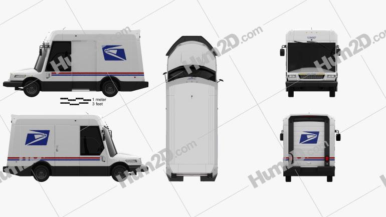 Oshkosh NGDV USPS Van 2021 clipart