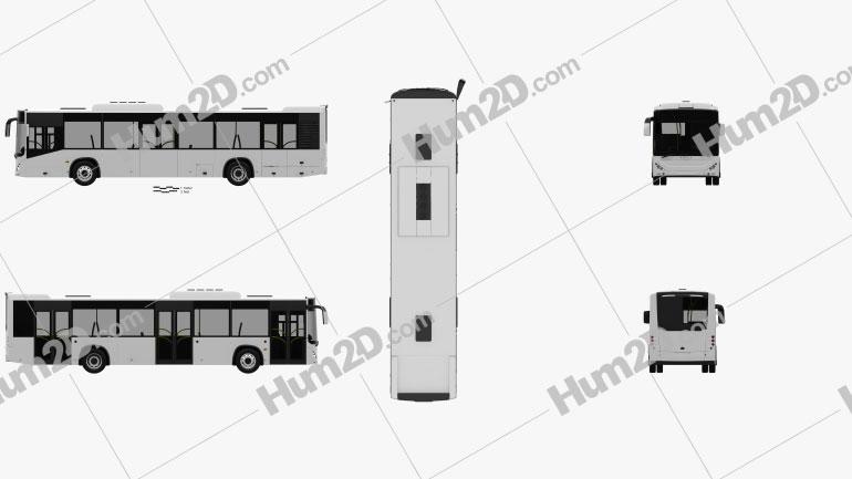 Otokar Kent 290LF Bus 2010 clipart