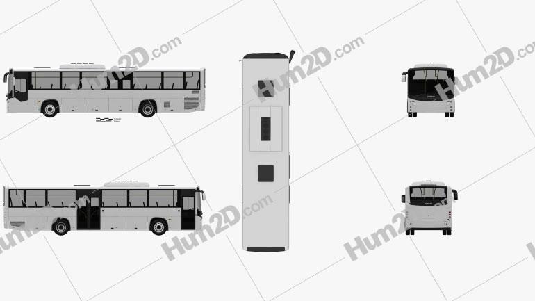Otokar Territo U Bus 2012 clipart