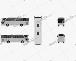 Otokar Vectio 250T Bus 2007 Clipart