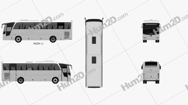 Otokar Vectio 250T Bus 2007 Clipart Image