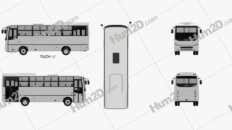 Otokar Navigo C Bus 2017 Clipart Image