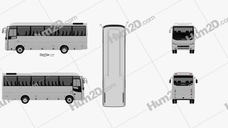 Otokar Navigo T Bus 2017 clipart
