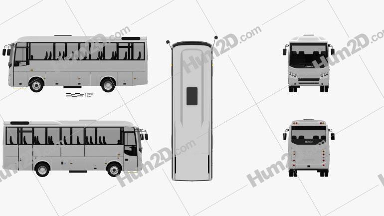 Otokar Navigo U Bus 2017 clipart