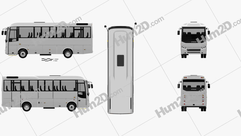Otokar Navigo U Bus 2017 Clipart Image