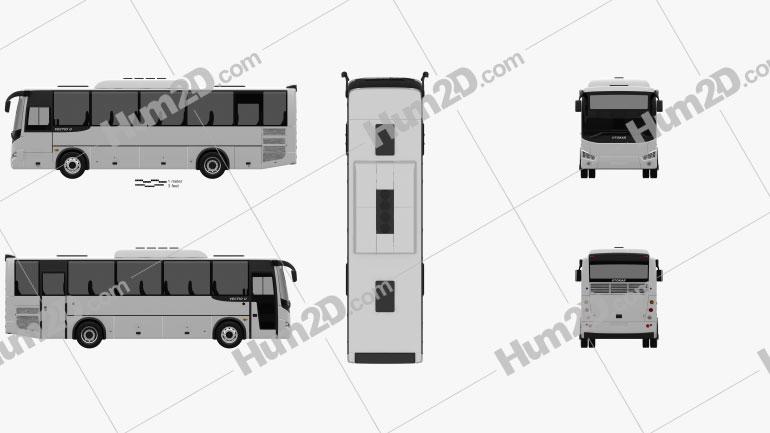 Otokar Vectio U Bus 2017 clipart