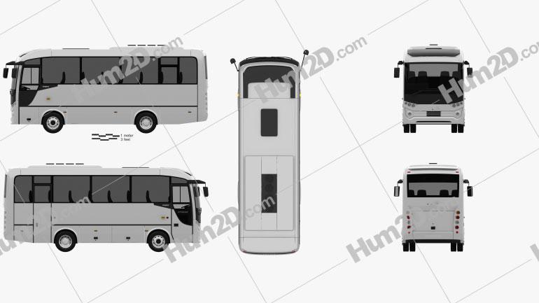 Otokar Tempo Bus 2014 clipart