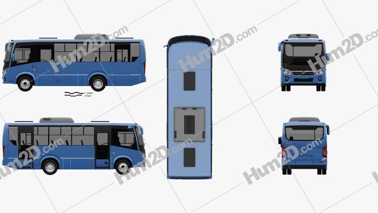 PAZ Vector Next Bus 2017 clipart