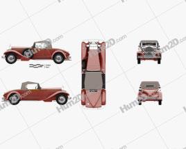 Packard 734 1930 car clipart