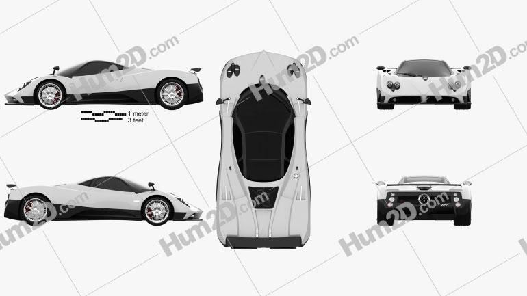 Pagani Zonda F 2005 car clipart