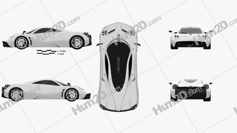 Pagani Huayra 2012 car clipart