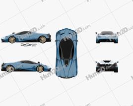 Pagani Huayra Roadster 2017 car clipart