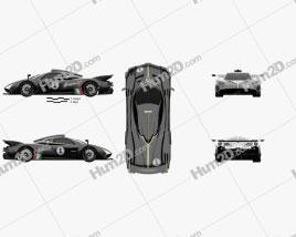 Pagani Huayra R 2021 car clipart