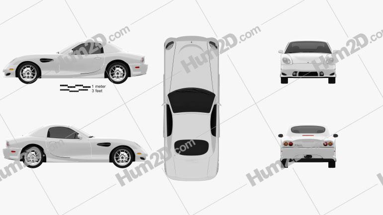Panoz Esperante GT 2012 car clipart