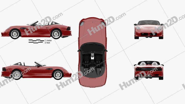 Panoz Esperante Spyder 2015 car clipart