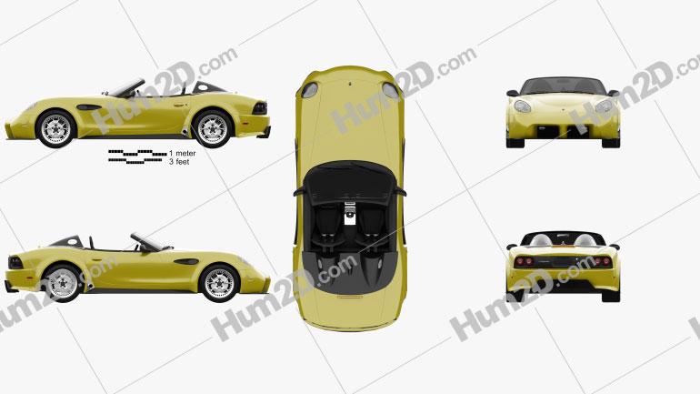 Panoz Esperante Spyder GT 2015 car clipart