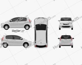 Perodua MyVi 2012 Clipart