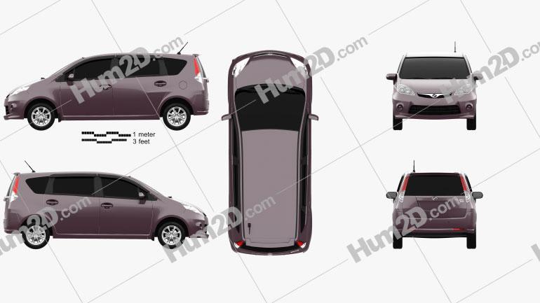 Perodua Alza 2009 clipart