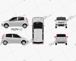 Perodua Viva 2009 Clipart