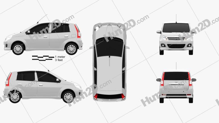 Perodua Viva 2009 Clipart Image