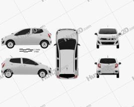 Perodua Axia 2014 Clipart