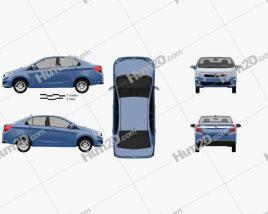 Perodua Bezza 2016 Clipart