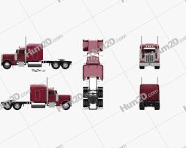 Peterbilt 379 Tractor Truck 1987