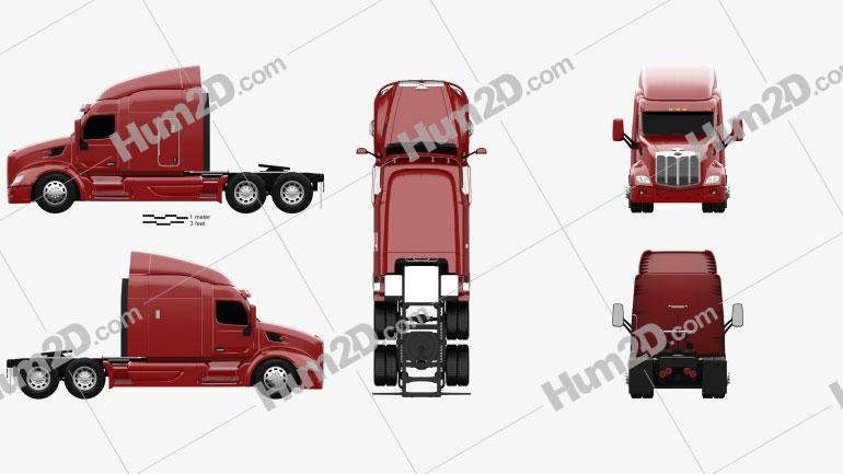 Peterbilt 579 Tractor Truck 2012 clipart